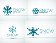 Christmas snowflake company logo design