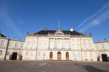 The Royal Couple's winter residence Amalienborg in Copenhagen