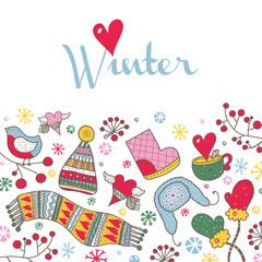 Cute winter card.