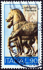 Bronze horses, St. Mark's Basilica (Italy 1973)