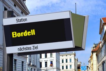 Anzeigetafel 7 - Bordell