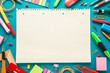 Leinwanddruck Bild - School office supplies