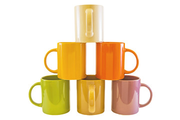 Color cups .