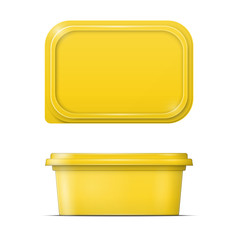 Yellow margarine spread template.