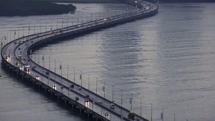 Panama City Traffic And Cars On Road At Morning 4K