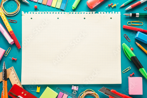 Fototapeta School office supplies