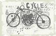 Постер, плакат: Мотоцикл