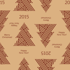 Wrapping paper for Christmas gifts. Christmas seamless pattern.