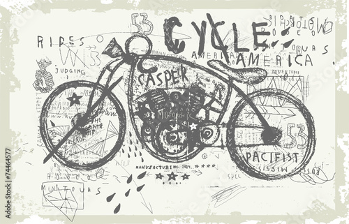 Мотоцикл - 74464577