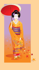 Autumn geisha