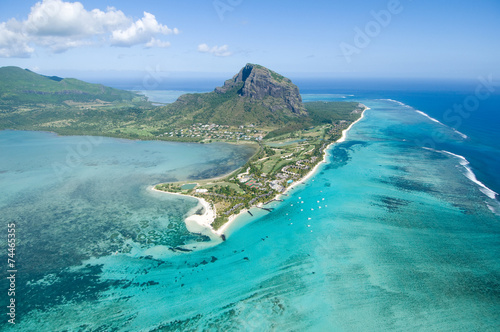 Poster Luchtfoto Aerial Mauritius