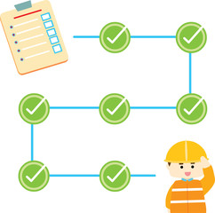 check list safety info graphic illustration vector