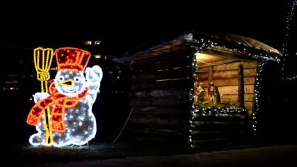 snowman and barn in velika gorica