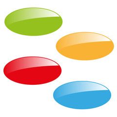 vector four glossy color empty icons