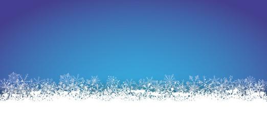 Long Blue Christmas Card Snowflakes