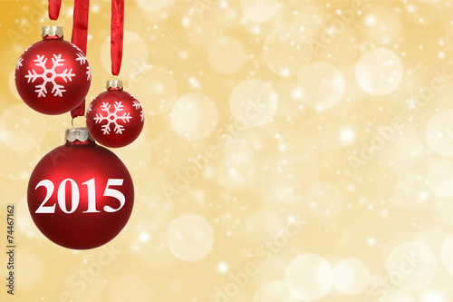 canvas print picture 2015 / Weihnachtlicher Hintergrund