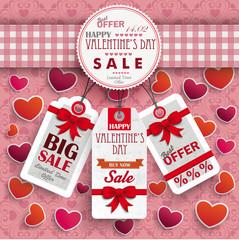 Emblem Hearts Valentinsday Price Stickers Ornaments