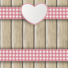 Emblem Double Cloth Valentinsday Wood