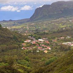 bras des Calumets, village des hauts de la Réunion