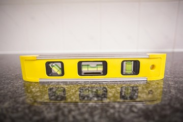 Spirit level on the counter