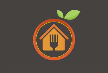 Organic restourant logo vector