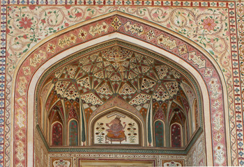 Architectural detailof the arch of Ganesh Pol, India