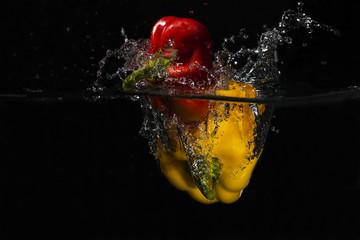 Frische Paprika Splashes