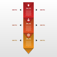 infographic arrows with icons. Origami concept
