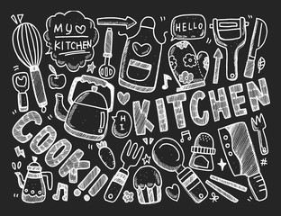 Cooking and kitchen background