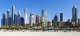 Fototapety Panoramic view of famous skyscrapers and jumeirah beach