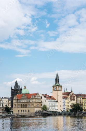 Foto op Canvas Praag Cityscape of Prague with Vltava river