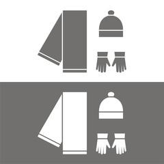 Icono ropa invierno BN