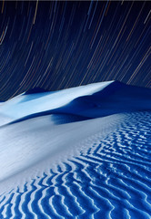 Sand dunes at night time