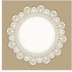 Vintage round lace frame