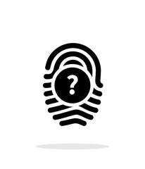 Question mark, FAQ sign. Fingerprint icon on white background.
