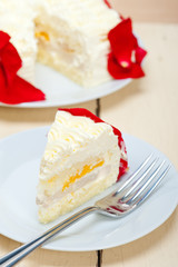 whipped cream mango cake