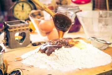 Preparing Christmas iced gingerbread dough Ingredients recipe ki
