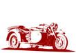 motorbike sidecar illustration - 74471787