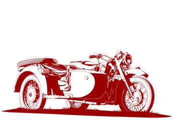 motorbike sidecar illustration