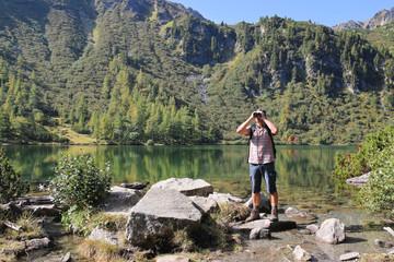 Wandern - 008 - Bergsee - Fernglas - Boesenstein