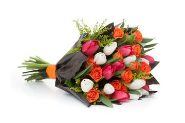 Tulips flowers bunch