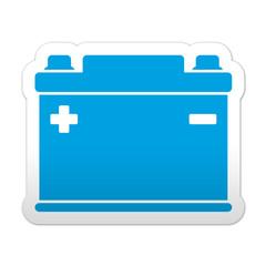 Pegatina simbolo bateria electrica