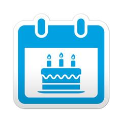 Pegatina simbolo calendario cumpleaños