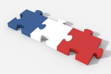 Bandiera Francia puzzle