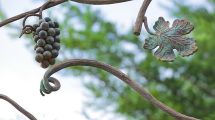 Bunch Of Grapes On a Branch Forged of Metal