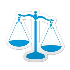 Pegatina simbolo justicia