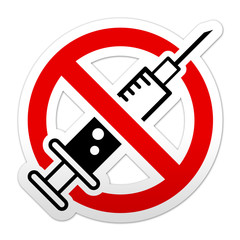 Pegatina simbolo prohibido drogas