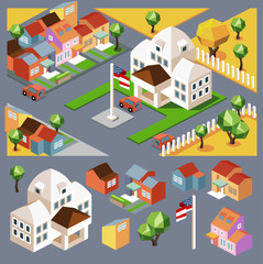 environment isometric and buildings