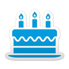 Pegatina simbolo tarta de cumpleaños
