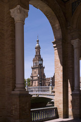 View of the Plaza of Spain, Seville, Spain